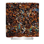 Abstraction 3374 Shower Curtain