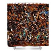 Abstraction 3376 Shower Curtain
