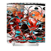 Abstraction 3422 Shower Curtain