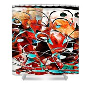 Abstraction 3423 Shower Curtain