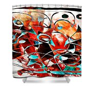 Abstraction 3424 Shower Curtain