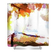 Abstraction #37 Shower Curtain