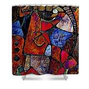 Abstraction 858 -marucii Shower Curtain