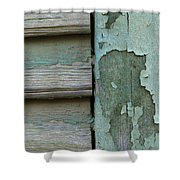 Abstraction In Peeling Paint Close-up Shower Curtain