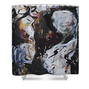 Abstraction#6 Shower Curtain
