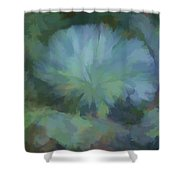 Abstractions From Nature - Live Oak Collar Shower Curtain