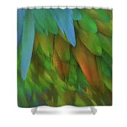 Abstractions From Nature - Pigeon Feathers Shower Curtain