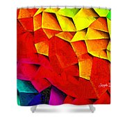 Abstractions Shower Curtain