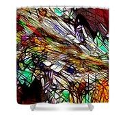 Abstracto En Dimension Shower Curtain