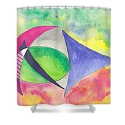 Abstracto Shower Curtain