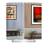 Abstracts By Edward M. Fielding Shower Curtain
