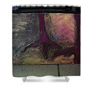 Abstracty Crows Feet Shower Curtain
