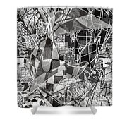 pERMEABLE aBSTRACTION  Shower Curtain