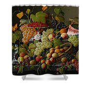 Abundant Fruit Shower Curtain by Severin Roesen