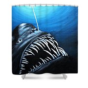 Abyssal Angler Shower Curtain