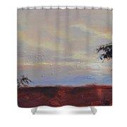 Acacias At Sunset Shower Curtain