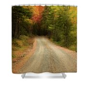 Acadia Backroads Shower Curtain