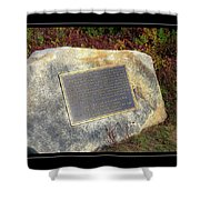 Acadia National Park Centennial Plaque Shower Curtain
