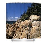 Acadia National Park Maine - Bass Harbor Head Lighthouse Shower Curtain