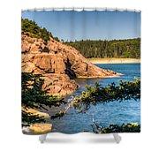Acadia National Park Rocky Shoreline Shower Curtain