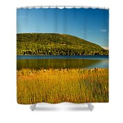 Acadia, National Park Shoreline And Marsh Maine Shower Curtain