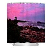 Acadia National Park Sunset Shower Curtain