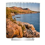 Acadian Cliffs In Autumn 1 Shower Curtain by Susan Cole Kelly