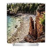 Acadia's Monument Cove Shower Curtain