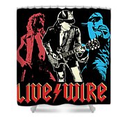 Acdc No.02 Shower Curtain by Caio Caldas