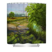 Ace Basin Pathway Shower Curtain