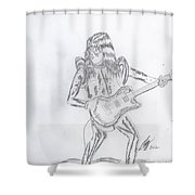 Ace Frehley Shower Curtain