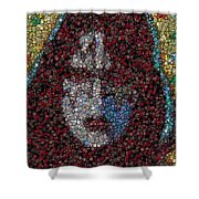 Ace Frehley Poker Chip Mosaic Shower Curtain