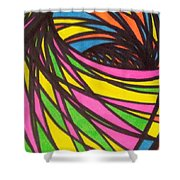 Aceo Abstract Spiral Shower Curtain