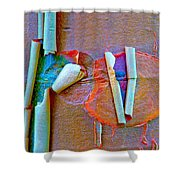 Acer Griseum Abstract Bark Shower Curtain