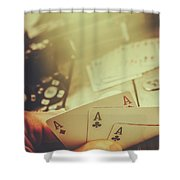Aces Up The Sleeve Shower Curtain