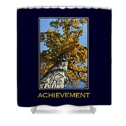 Achievement Inspirational Poster Art Shower Curtain by Christina Rollo