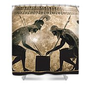 Achilles & Ajax, C540 B.c Shower Curtain