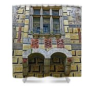 Achitecture Of The Little Castle Within Cesky Krumlov In The Czech Republic Shower Curtain
