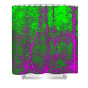 Acid Forest Shower Curtain