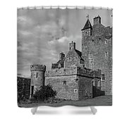 Ackergill Tower 1119 Bw Shower Curtain