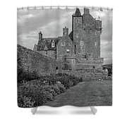 Ackergill Tower 1173 Bw  Shower Curtain