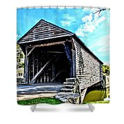 Ackley Covered Bridge Shower Curtain