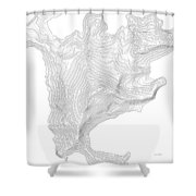 Aconcagua Art Print Contour Map Of Mount Aconcagua In Argentina Shower Curtain