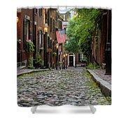 Acorn St. Boston Ma. Shower Curtain