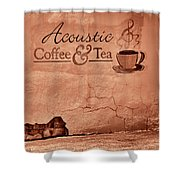 Acoustic Coffee And Tea - 1c2b Shower Curtain