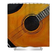 Acoustic Guitar Shower Curtain