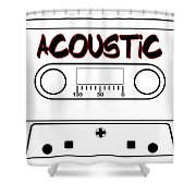 Acoustic Music Tape Cassette Shower Curtain