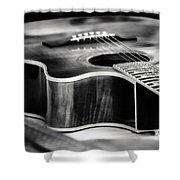 Acoustic Noir Shower Curtain