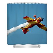 Acrobat Blue Shower Curtain