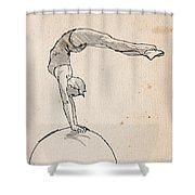 Acrobat On Robot Shower Curtain